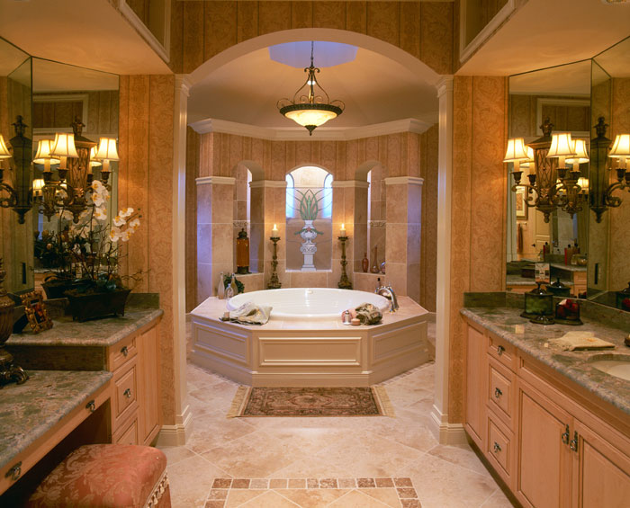 Cornerstone developers for Elegant master bathrooms pictures